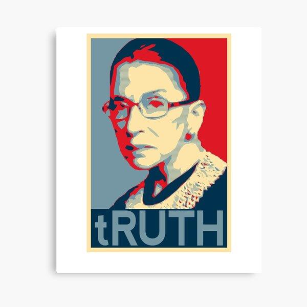 Ruth Bader Ginsburg tRUTH RBG design Canvas Print