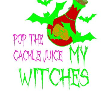 Wine Drinking Witches Halloween Tee Shirt by CliqueBank