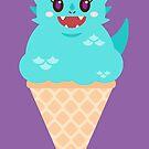 Ice Cream Dragon Blue by Big-Pasach