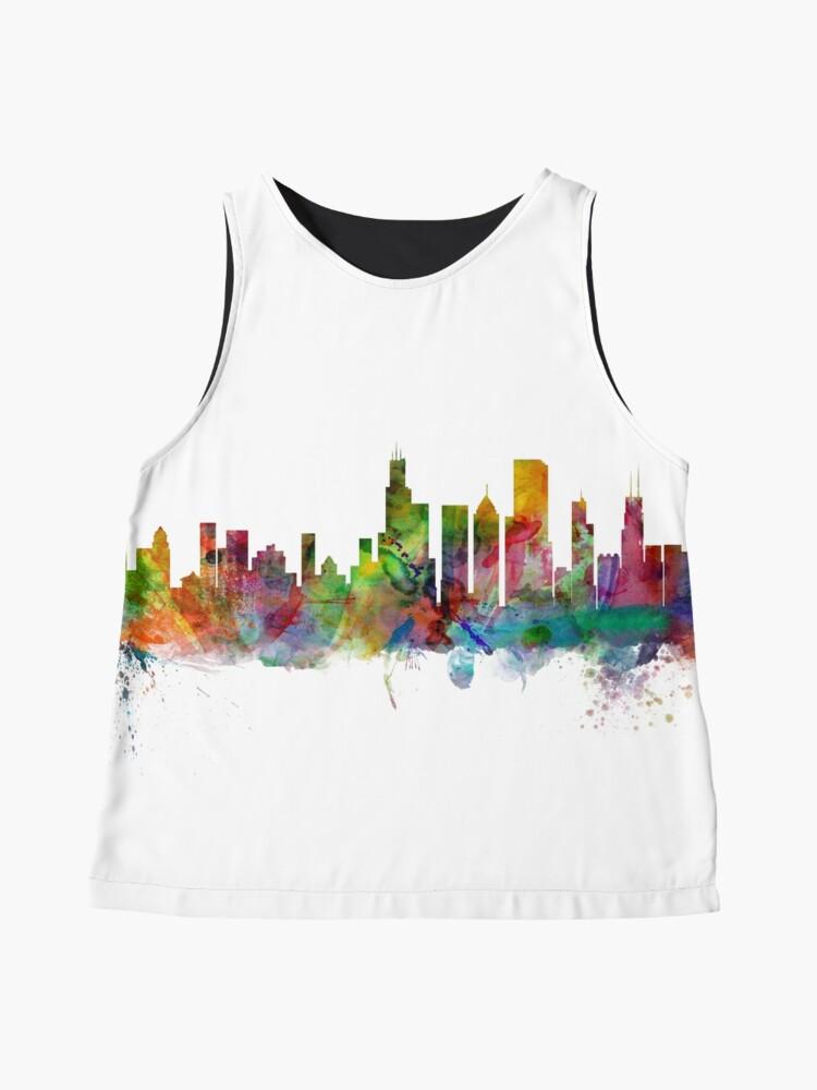 Alternative Ansicht von Chicago Illinois Skyline Ärmelloses Top