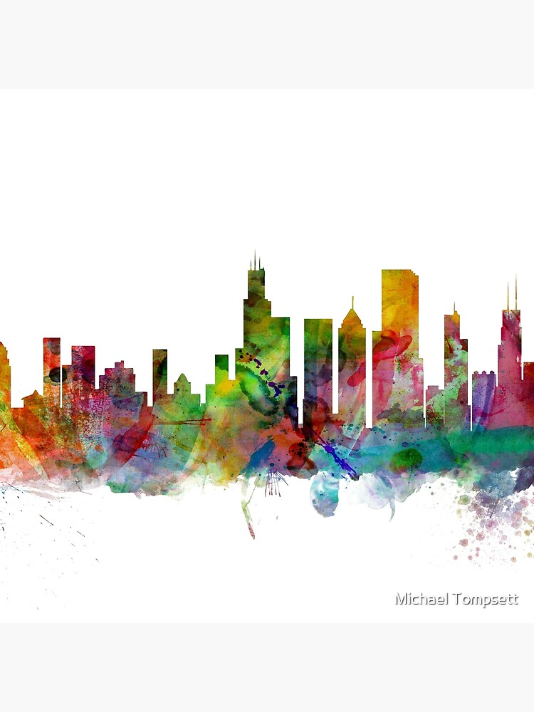 Chicago Illinois Skyline von ArtPrints