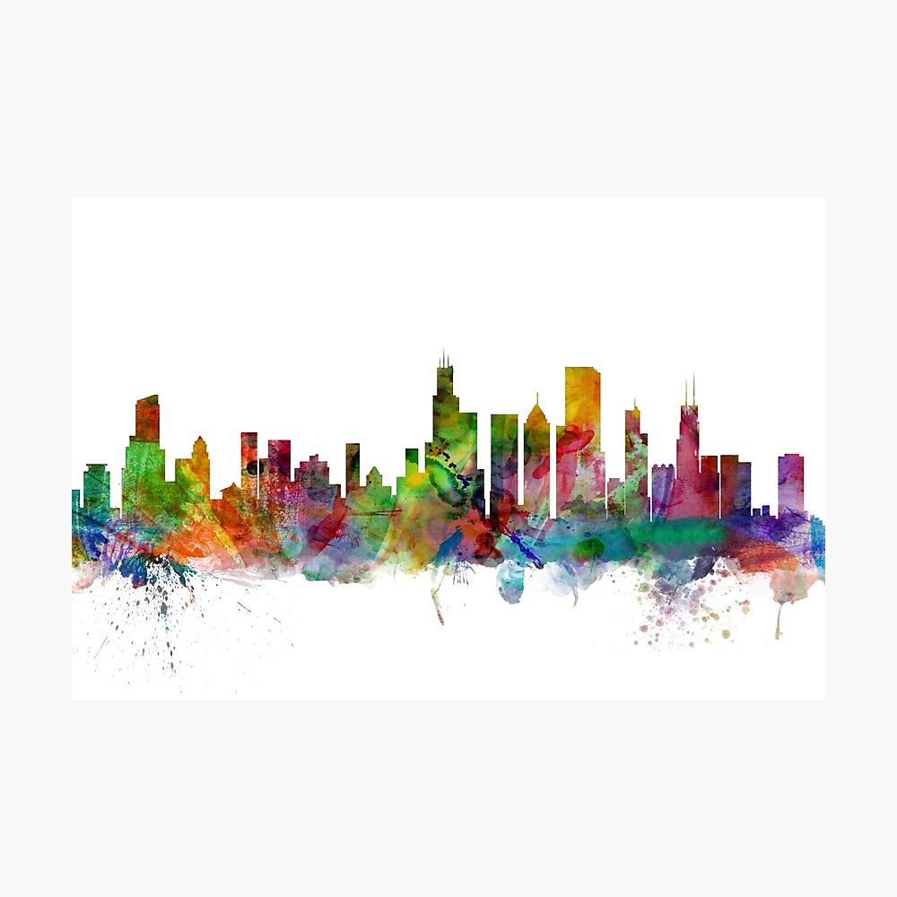 Chicago Illinois Skyline Fotodruck