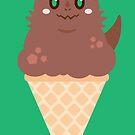 Ice Cream Dragon Brown von Big-Pasach