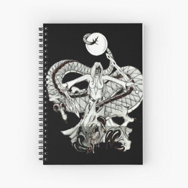 Lady Dragon Death Warrior  Spiral Notebook