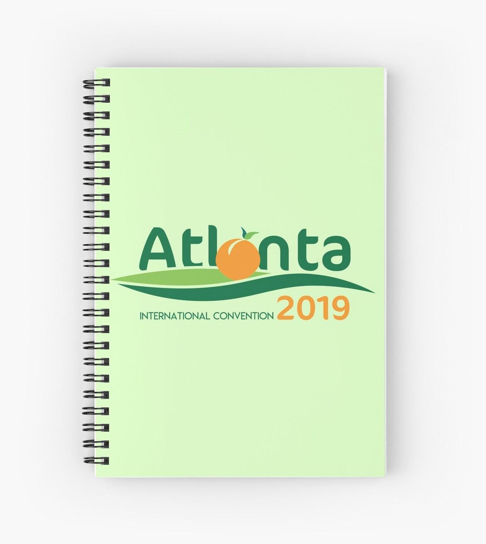 'Atlanta, Georgia - 2019 International Convention' Spiral Notebook by JW  Stuff