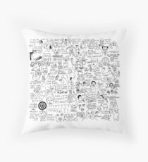 an Ultimate vine compilation but instead of a video its just terribly drawn  Throw Pillow