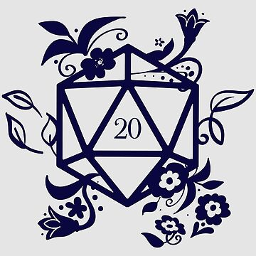 Polyhedral D20 Dice of the Druid Dungeons Crawler and Dragons Slayer Tabletop RPG Addict by pixeptional