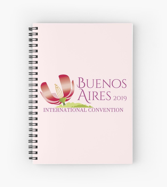 'Buenos Aires, Argentina - 2019 International Convention' Spiral Notebook  by JW Stuff