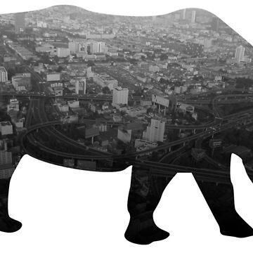Rhino in the city by muli84