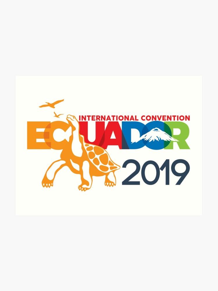 Guayaquil, Ecuador - 2019 International Convention | Art Print
