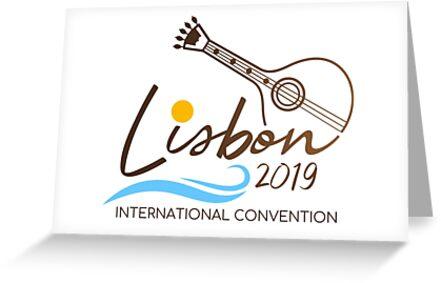 'Lisbon, Portugal - 2019 International Convention' Greeting Card by JW Stuff
