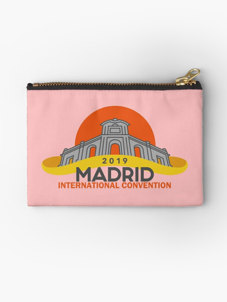 'Madrid, Spain - 2019 International Convention' Zipper Pouch by JW Stuff