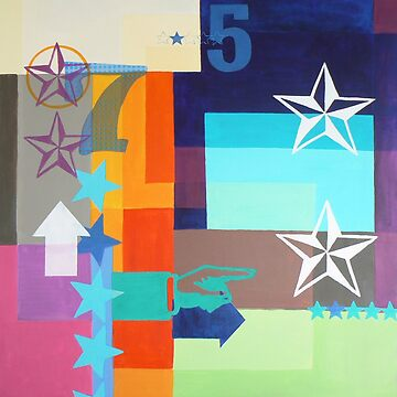 Lucky Star - pop art abstract by Carolynne