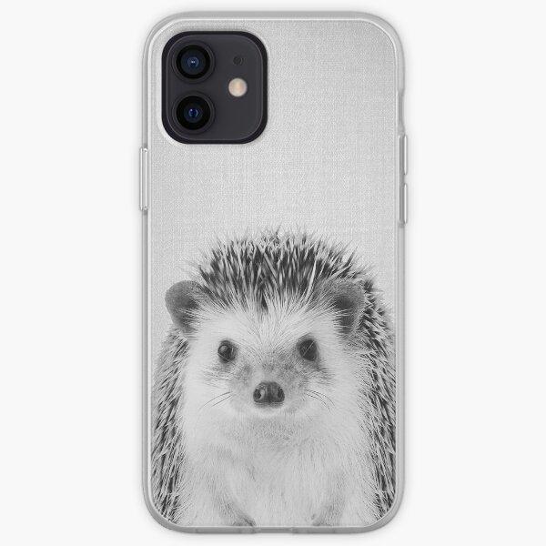 Hedgehog - Black & White iPhone Soft Case