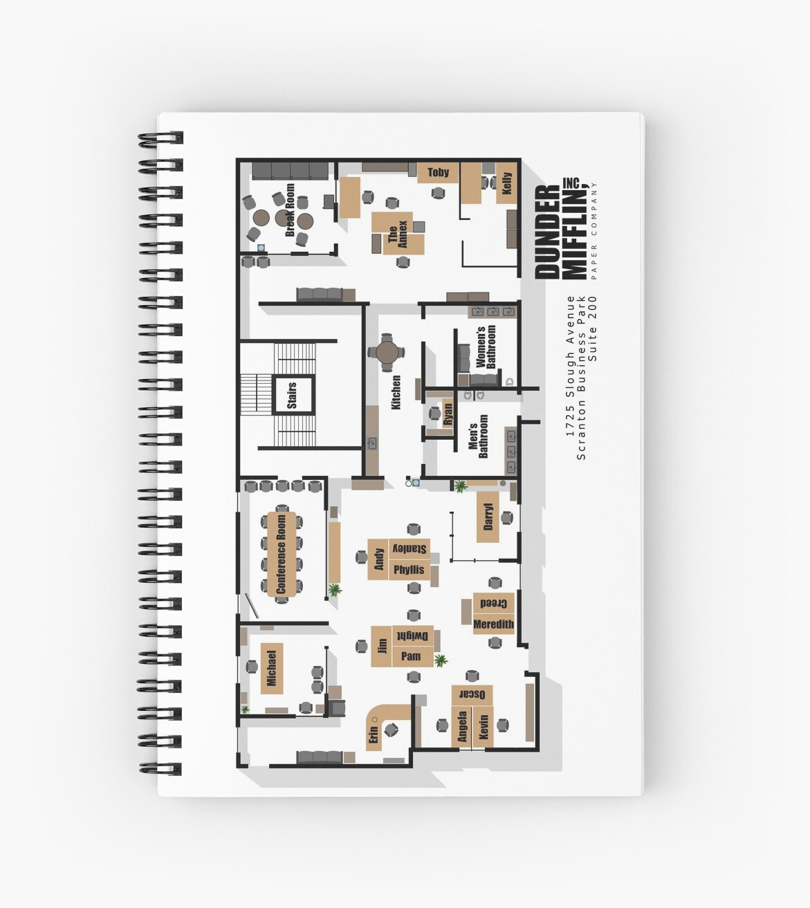 The office floor plan Teaching Kitchen The Office Floor Plan Dunder Mifflin 1725 Slough Avenue Scranton Business Park Suite 200 Prodigyprints The Office Floor Plan Dunder Mifflin 1725 Slough Avenue