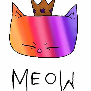 Rainbow Meow by katrinahajowyj