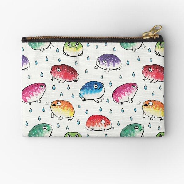 Round Rain Frogs Zipper Pouch