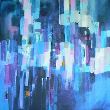 Blue abstract painting - urban blue by Carolynne