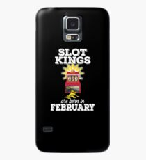 Slots February Birthday Design Mens - Slot Kings Are Born In February Case/Skin for Samsung Galaxy