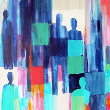 abstract people painting by Carolynne