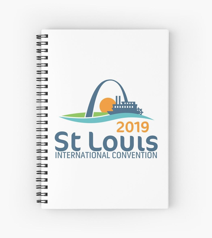 'St  Louis, Missouri - 2019 International Convention' Spiral Notebook by JW  Stuff