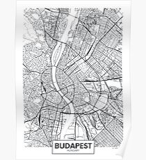 Vector poster city map Budapest Poster