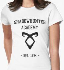 Camiseta entallada para mujer Bienvenido a Shadowhunter Academy