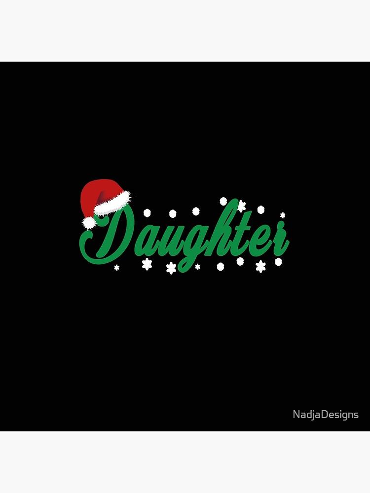 Tochter Schriftzug Weihnachtsgeschenk von NadjaDesigns