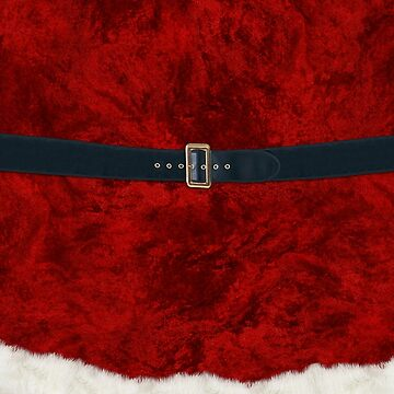 Christmas Santa Costume Cosplay Outfit - Fluffy Red and White with Belt and Buckle by ThisOnAShirt