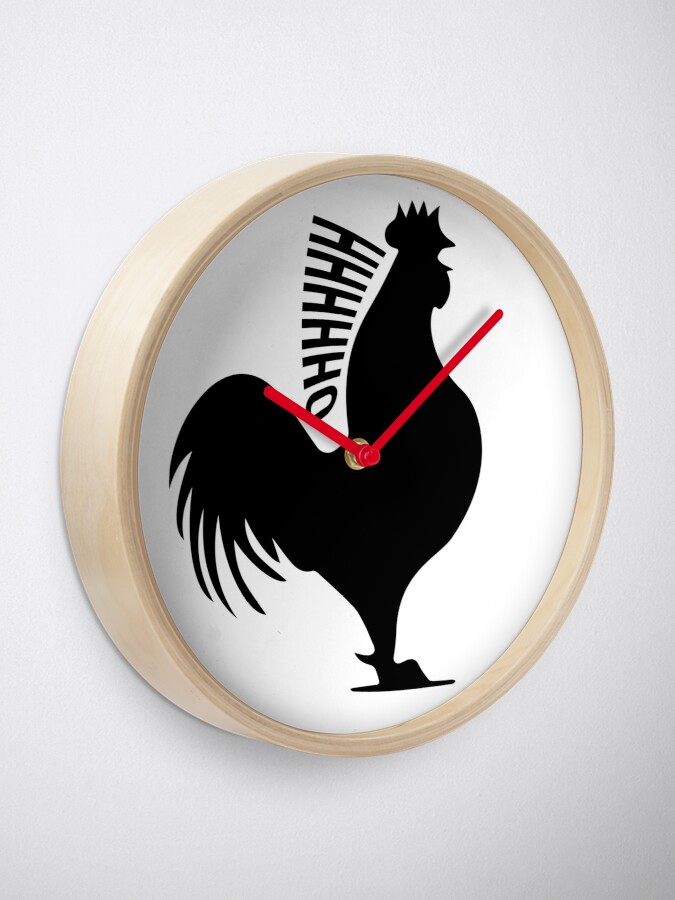 "Alternate view of James May's Official ""Oh Cock"" design Clock"