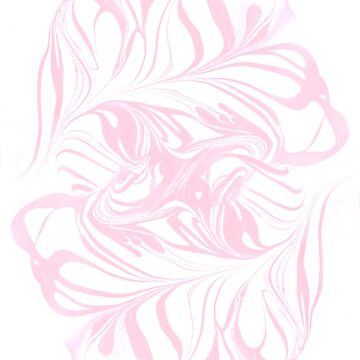 Original Marble Texture - Flamingo Blush by andreapinter
