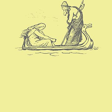 Frigg and Odin Sailing In Oselvar Viking Boat by taiche