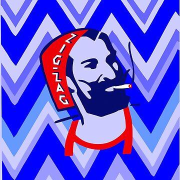 Captain - Zig Zag Blue by GR8DZINE
