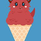 Ice Cream Dragon Red by Big-Pasach