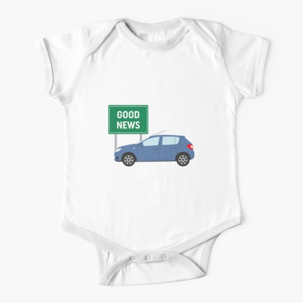 Good News! It's James May's Dacia Sandero Design  Short Sleeve Baby One-Piece