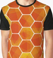 Orange Abstract hexagonal background futuristic geometric seamless luxury pattern Graphic T-Shirt