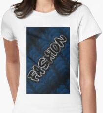FASHION ON BLUE KNIT MINIMALIST POP ART - BLUE PERIOD Women's Fitted T-Shirt