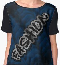 FASHION ON BLUE KNIT MINIMALIST POP ART - BLUE PERIOD Chiffon Top