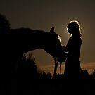 A Girl and Her Horse by Appel