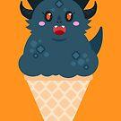 Ice Cream Dragon Black by Big-Pasach
