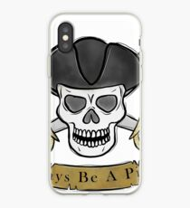 Pirate skull and cutlas illustration iPhone Case