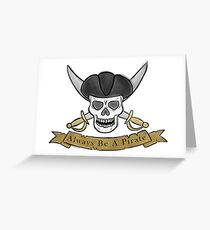 Pirate skull and cutlas illustration Greeting Card