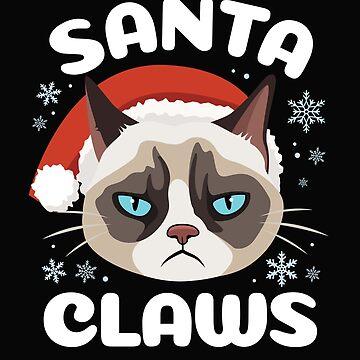 Funny Grumpy Santa Claws Cat Shirt by ShirtPro