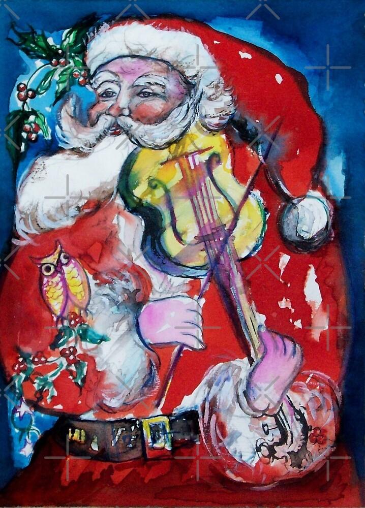 SANTA CLAUS PLAYING VIOLIN /  MUSICAL CHRISTMAS PARTY by BulganLumini