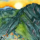 Watercolor Mountain Range by TigaTiga