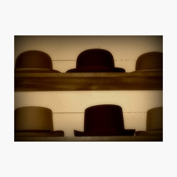 1800's General Store - Hats for Sale Photographic Print