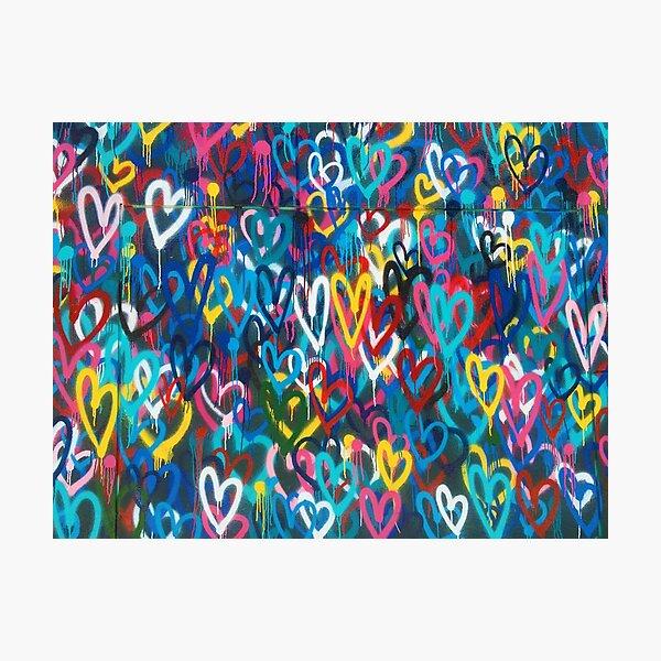 Graffiti Hearts Love Photographic Print