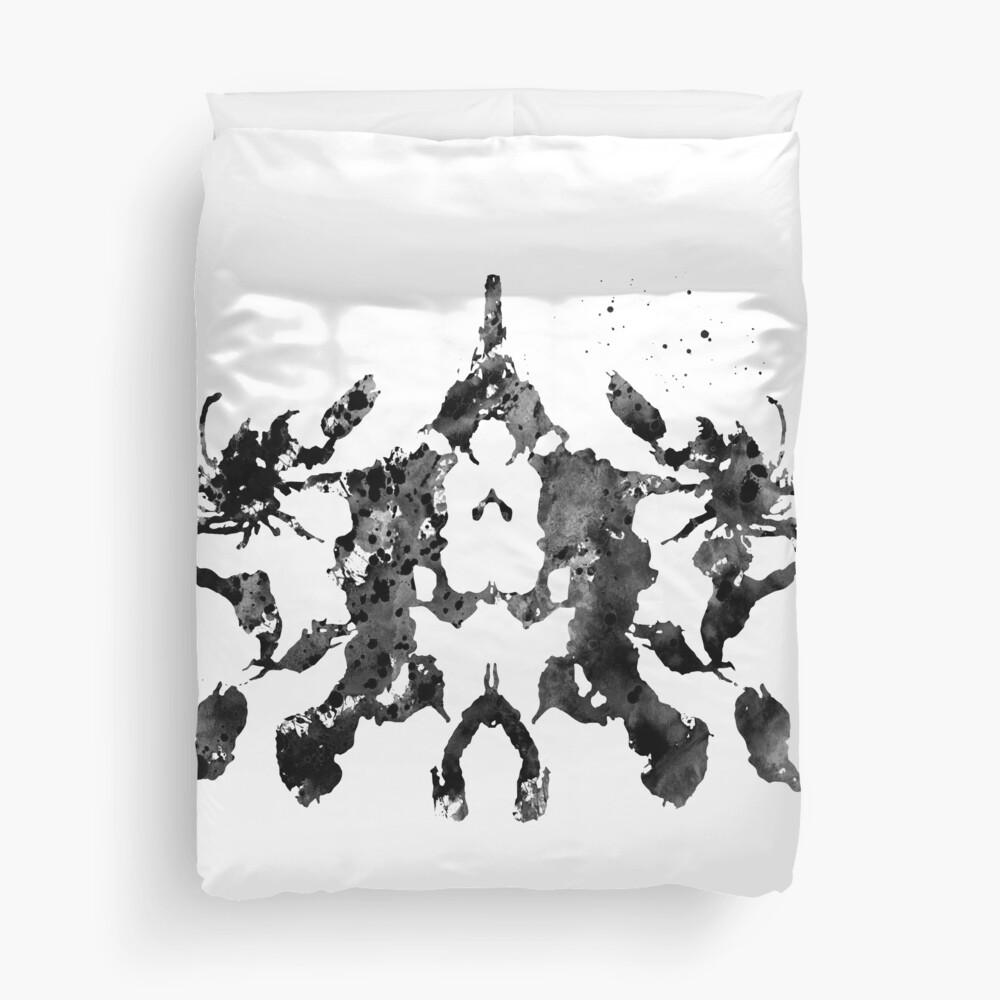 Rorschach inkblot test Duvet Cover
