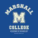 Indiana Jones - Marshall College Schwere Distressed Variante von Candywrap Design