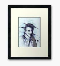 Mickey Rourke ( Pre-Plastic ) Framed Print